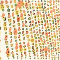 「はっぱ」 2019 年   199×237   水彩、墨、和紙   21,000円(額装済)