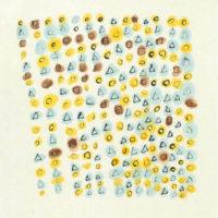 NM-05「花火」 2019年 210×210(額装サイズ四つ切) 水彩、墨、和紙   21,000円