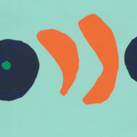 YA-02「アイイロ ミカン 」 2017年 157×228  アクリル・キャンバス  額装価格:36,000円 作品のみ:26,000円