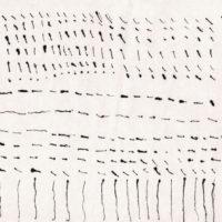 RS-07「 点と点と線」 2008年  161×296     墨・和紙  額装済価格:20,000円 作品のみ:15,000円