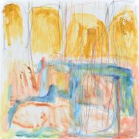 RS-04「 花と木」 2011年  458×458    水彩・コンテ・紙・パネル  額なし:45,000円
