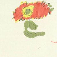 NM-03「ひまわり」 2019年 200×199(額装サイズ40角) 水彩、墨、和紙   25,000円