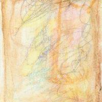 RS-08「 おいしい思い出オムライス」 2020年  180×140(F0)    水彩・コンテ・キャンバス  額装済価格:40,000円 作品のみ:30,000円